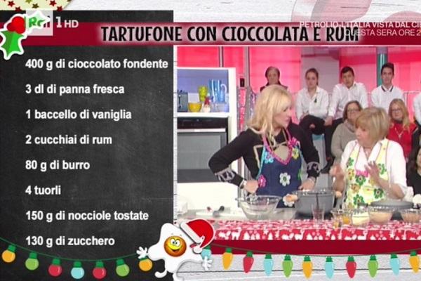 Menu Di Natale Anna Moroni.Ricette Dolci Di Natale La Prova Del Cuoco Tartufone Di Anna Moroni