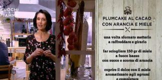 Ricetta plumcake al cacao di Csaba Dalla Zorza con miele e arancia